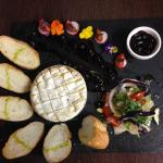 Whole Oven Baked Camembert with a Sharp Berry Compot
