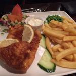 Traditional beer battered fish and chips