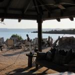 Dining and communal area of camp. Beach very close but not for swimming due to Crocodiles.