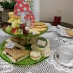 Mad Hatter's tea party - beautifully presented.