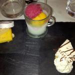 Abschlussgänge: Key Lime Pie, Sorbet und Käse