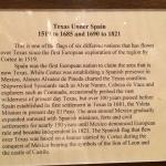 Texas under Spain plaque for flag
