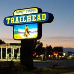 TrailHead sign at night