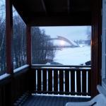 Hakan-Hall direkt von unserem Balkon aus