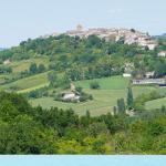 Vue sur le village de Lauzerte