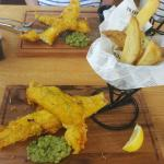 Tasty fish and chips.