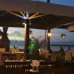 Lovely place to eat while the sun sets, right on the beach, can be accessed from the Main Street