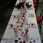 our wedding dinner table