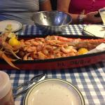 Steamed Snow Crabs!  Our Trinity Platter