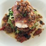 Monk Fish wrapped in parma ham with provencal sauce