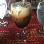Thai Iced Coffee, Chicken Pho, Spicy Tuna Roll, and Sushi Menu.