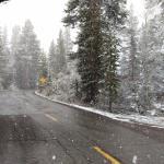 Snowy South Lake Road late May 2016