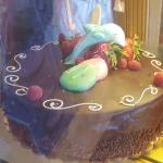 They have lots of special cake like this in there case!