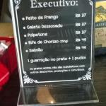 Menu Executivo