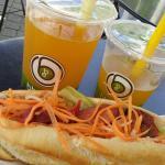 Sandwich et bubble tea