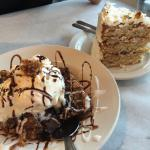 Caramel Brookie Sundae and Italian Cream Cake