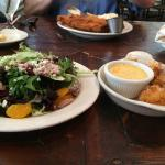 Sunburst Salad, Mac&Cheese Balls, Fish & Chips