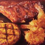 BBQ Mixed Grill - Chicken,Ribs, & Coconut Shrimp
