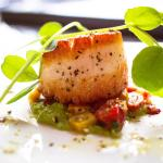 Pan-seared Scallop (side view) - perfectly seared