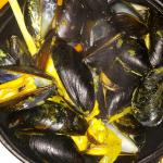Steamed muscles in currie sauce...excellent appetizer