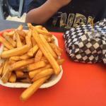 Family size fries, The Beach Hut, Qualicum Beach, BC