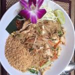 My favorite dish at the Bambus: the Pad Thai.