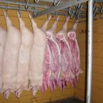 Svinekød blev sendt med godstog.