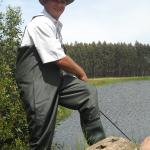 Fishing the nearby bass and trout dams