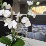 The fake orchid plant that's on the breakfast table. You can see the check-in desk is remodeled.
