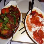 mixed jalfrezi and lamb tikka massalla