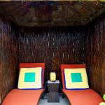 Our private cabana for the Parrot room