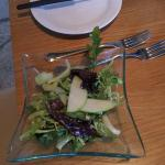 Salad to start the Fondue