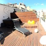 panoramic view of the terrace with hot tub