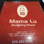 2. Mama Lu Dumpling House 一口福 -Menu