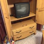 Small, old-fashioned TV