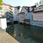 """Blick von der Terrasse des Restaurants Palmscher Bau auf den Neckarkanal """"Klein Venedig""""-1"""