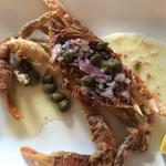 softshell crab with capers