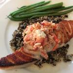 salmon with lobster
