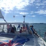 View while sailing of the sail boat