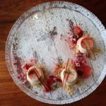 Almond Mousse, Rhubarb 4 ways