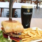 Darcy Burger & a Pint of Guinness