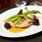 Cornfed chicken with morel emulsion