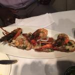 Grillade De Fruits De Mer (Grilled Lobster, Jumbo Shrimp, Calamari and Crawfish)
