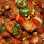 Spare ribs with chopped chili pepper