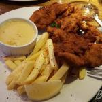 Bland chicken schnitzel