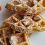 waffles with banana pecan butter (If i remember correctly)