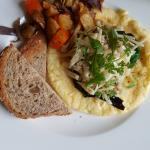 truffle omelet with home fries