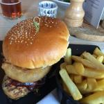 great chicken burger. Bring your appetite with you
