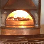 Brick Wood Fired Pizza - pizza open oven