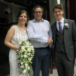 The happy couple with Dave